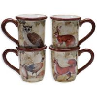 Certified International Rustic Nature Mugs (Set of 4)
