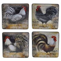 Certified International Vintage Rooster Dinner Plates (Set of 4)