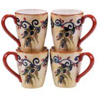 Certified International Umbria Mugs (Set of 4)