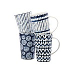 Maxwell & Williams™ Shibori Mugs in Indigo (Set of 4)