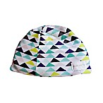 Geo Triangles Small Hush Hat in Blue/Green
