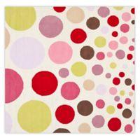 Safavieh Kids® Polka Dot 6-Foot Square Multicolor Area Rug