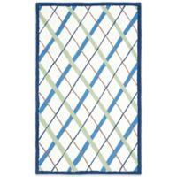 Safavieh Kids® Lattice 8-Foot x 10-Foot Area Rug in Ivory/Blue