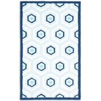 Safavieh Kids 3-Foot x 5-Foot Hexagon Print Area Rug in Blue/Ivory