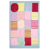 Safavieh Kids® Striped Shapes 6-Foot x 9-Foot Area Rug in Blue/Multi