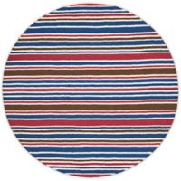 Safavieh Kids® Stipe Print 6-Foot Round Area Rug in Ivory