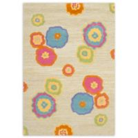 Safavieh Kids® Flower Print 3-Foot x 5-Foot Accent Rug in Light Green