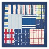 Safavieh Kids® Square Print 7-Foot Square Area Rug in Blue