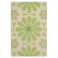 Safavieh Kids® Daisies 2-Foot x 4-Foot Accent Rug in Beige/Green