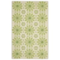 Safavieh Kids® Daisies 4-Foot x 6-Foot Area Rug in Beige/Green