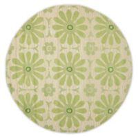 Safavieh Kids® Daisies 6-Foot Round Area Rug in Beige/Green
