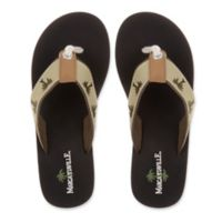 Margaritaville Size 9 Breezy Women's Flip Flop in Sand/Black