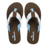 Margaritaville Size 7 Breezy Women's Flip Flop in White/Powder Blue