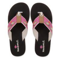 Margaritaville Size 8 Rita Time Women's Flip Flop in Black/Pink