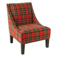 Skyline Furniture Dorie Accent Chair in Ancient Stewart Red Plaid