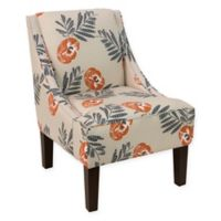 Skyline Furniture Dorie Accent Chair in Mod Floral Orange