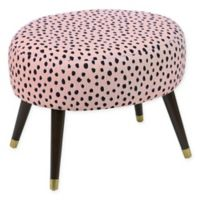 Skyline Furniture Casselberry Ottoman in Pardo Blush