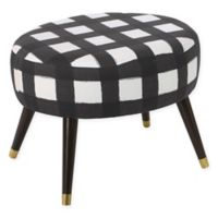 Skyline Furniture Casselberry Ottoman in Buffalo Square Black