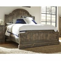 Meadow Complete King Panel Bed in Weathered Grey