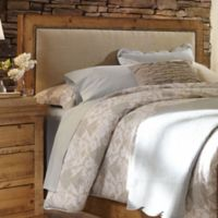 Willow Upholstered King Headboard in Distressed Pine