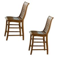Willow Counter Dining Chairs in Distressed Pine (Set of 2)