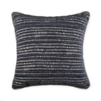 Manuscript Throw Pillow in Navy