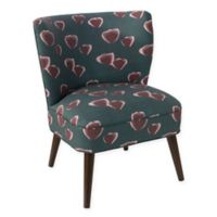 Skyline Furniture Loretto Accent Chair in Poppy Turquoise