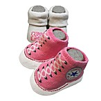Converse Size 0-6M 2-Pack Bootie Socks in Pink