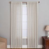 Cameron 95-Inch Rod Pocket/Back Tab Window Curtain Panel in Natural