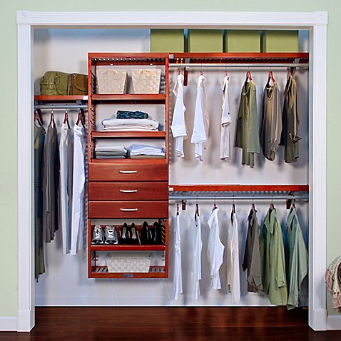john louis home premier closet organizer with 3 drawers bed bath beyond. Black Bedroom Furniture Sets. Home Design Ideas