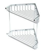 Gatco 10-Inch Shower Corner Basket in Chrome