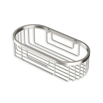 Gatco 9.75 Inch Oval Shower Corner Basket In Satin Nickel