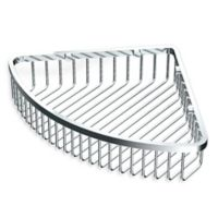 Gatco 12-Inch Shower Corner Basket in Chrome
