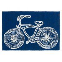 Kaleen Sea Isle Bike 2-Foot x 3-Foot Indoor/Outdoor Accent Rug in Navy