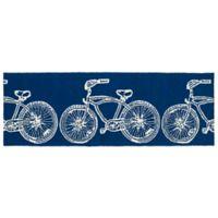 Kaleen Sea Isle Bike 2-Foot x 6-Foot Indoor/Outdoor Runner in Navy
