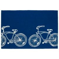 Kaleen Sea Isle Bike 7-Foot 6-Inch x 9-Foot Indoor/Outdoor Area Rug in Navy
