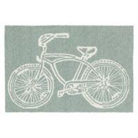 Kaleen Sea Isle Bike 2-Foot x 3-Foot Indoor/Outdoor Accent Rug in Grey