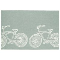 Kaleen Sea Isle Bike 7-Foot 6-Inch x 9-Foot Indoor/Outdoor Area Rug in Grey