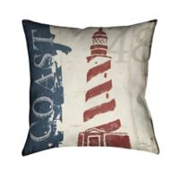 Laural Home® Nautical Coast Square Throw Pillow in Blue