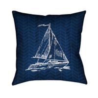 Laural Home® Coastal Anchor Square Throw Pillow in Blue