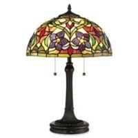 Quoizel Violets 2-Light Table Lamp in Vintage Bronze