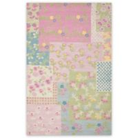Safavieh Kids® Flowers 8-Foot x 10-Foot Area Rug in Pink/Green