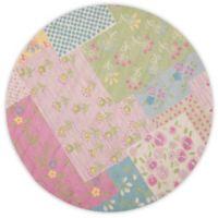 Safavieh Kids® Flowers 6-Foot Round Area Rug in Pink/Green