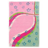 Safavieh Kids® Stars and Stripes 8-Foot x 10-Foot Area Rug in Green/Pink