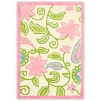 Safavieh Kids® Floral Vine 2-Foot x 3-Foot Accent Rug in Ivory/Pink