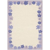 Safavieh Kids® Floral Border 2-Foot x 3-Foot Accent Rug in Ivory/Lavender