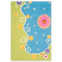 Safavieh Kids® Land and Sea 2-Foot x 3-Foot Accent Rug in Blue/Green