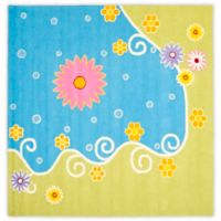 Safavieh Kids® Land and Sea 7-Foot Square Area Rug in Blue/Green