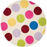 Safavieh Kids® Multicolor Dots 6-Foot Round Area Rug