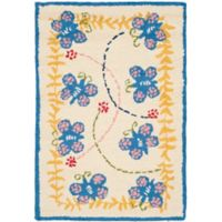 Safavieh Kids® Butterfly 2-Foot x 3-Foot Accent Rug in Ivory/Blue